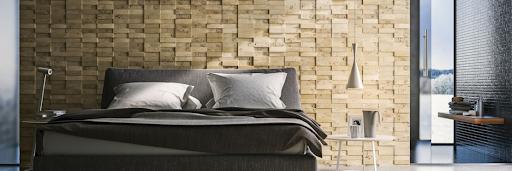 panneaux muraux décoratifs en bois brut massif