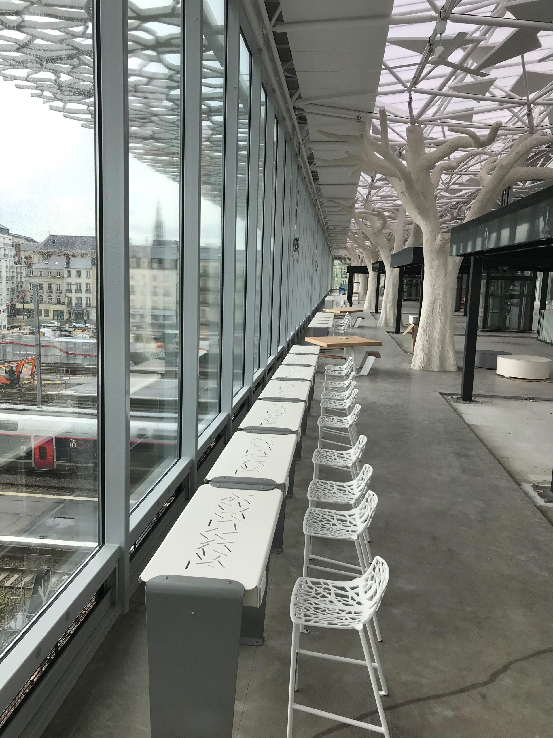 perspective bureaux voyageurs - gare sncf nantes passerelle - presta france - solutions agencement