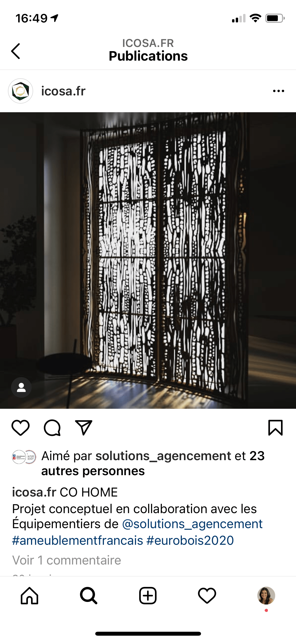 instagram-icosa-realisation- amenagement interieur - nov 2020 - solutions agencement