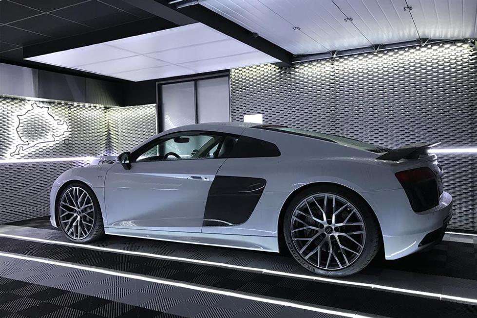 voiture blanche après rehau agencement garages luxe solutions agencement